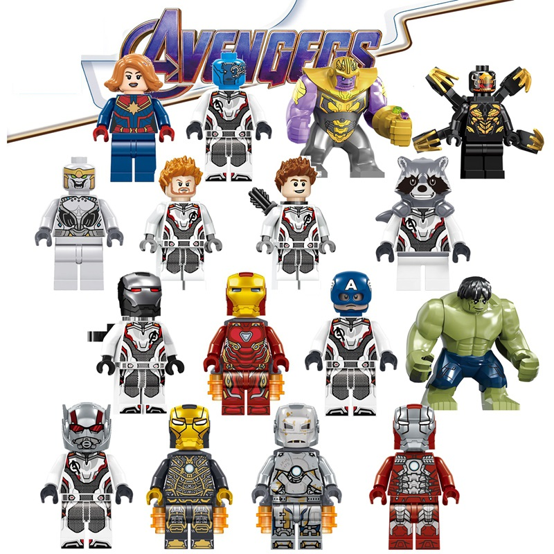 Avengers 4 Endgame Legoed Marvel Minifigured Model Iron Man Sipderman Building Blocks Bricks Figures Toys For Children CD157-172