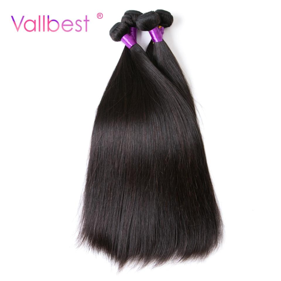Vallbest Peruvian Straight Hair 100% Human Hair Bundles Weave Peruvian Hair 100g/Piece Natural Black Non Remy Hair Free Shipping