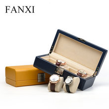 2019 Top Quanlity Watch Storage Box New Round Corner PU Watch Display Box With Pillow And Lock Fashion Jewelry Gift Boxes W049 wholesale cardboard material watch box new black red blue jewelry gift boxes case new men s watch storage boxes case