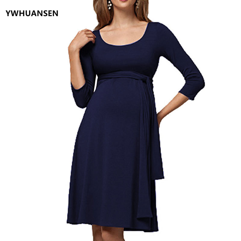 Loose Plain Pregnant Woman Dress Long Sleeve Clothes For Breastfeeding Casual Vestido Maternidad For Lactating MomsLoose Plain Pregnant Woman Dress Long Sleeve Clothes For Breastfeeding Casual Vestido Maternidad For Lactating Moms