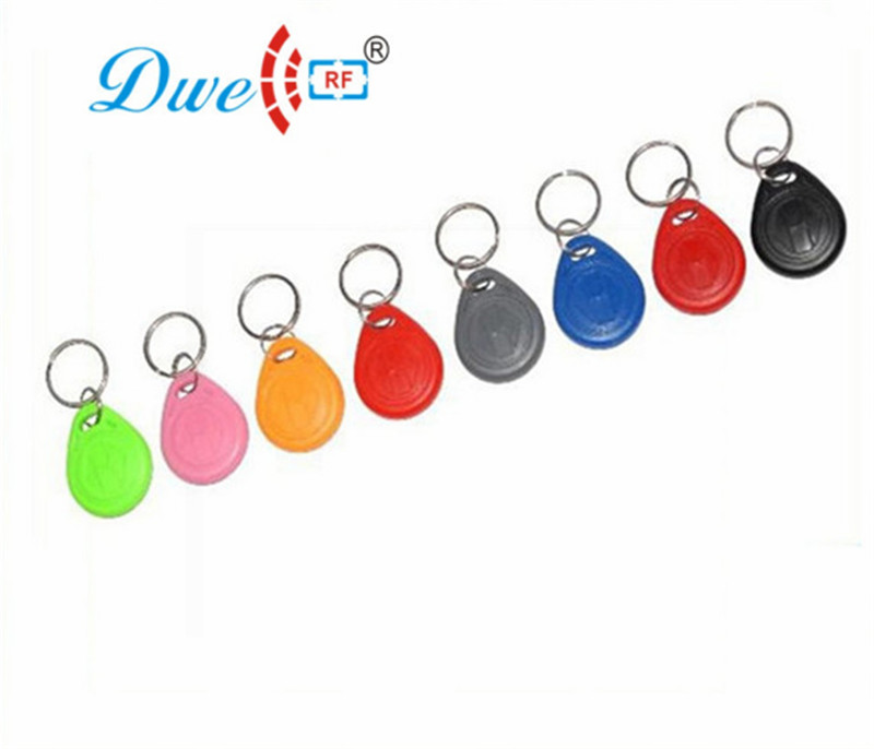 DWE CC RF TK4100 cheap 100pcs per lot 125Khz EM ID key tag for door access and car parking
