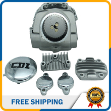 Motorcycle Parts Accessories 125cc Air-cooled Cylinder Head With 5 Caps For Lifan Yinxiang Horizontal 125cc Engine