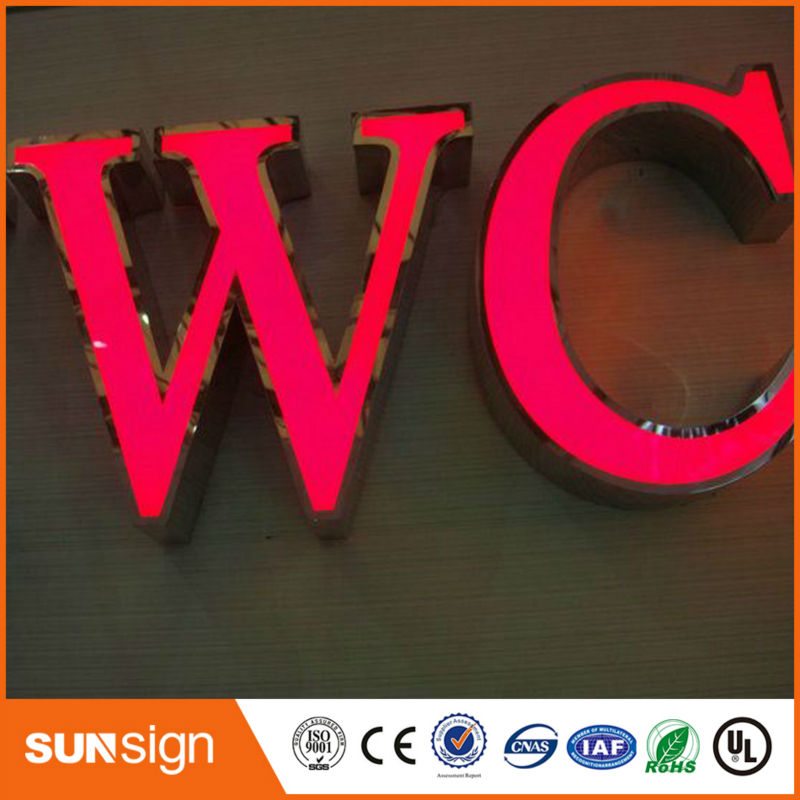 Custom Front Lit Channel Letters Sign With LED Light