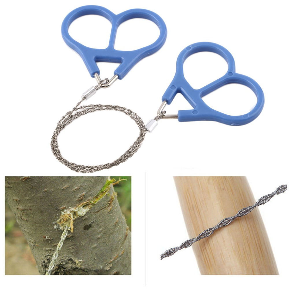 1pcs Top Quality Pocket Steel Saw Wire Camping Hunting Travel Emergency Survive Tool Stainless