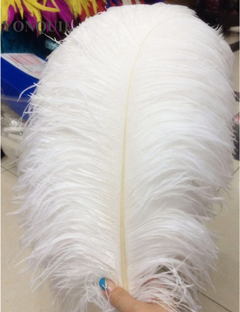 "Free shipping white and black 16""-18""/40-45CM ostrich feathers plumage flapper dresses for craft /DIY accessories 50pcs/lot"