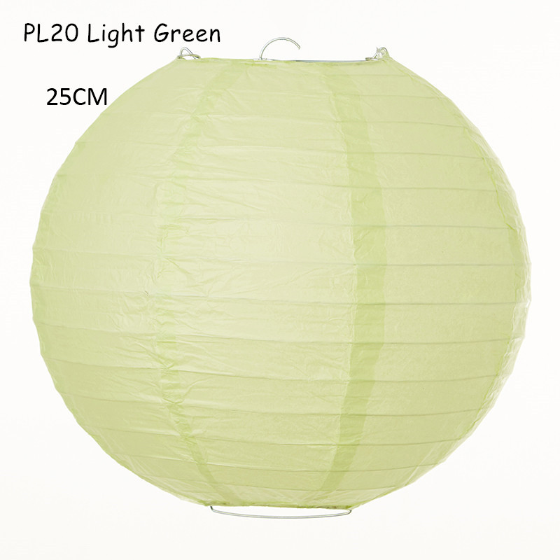 10inch=25cm 8pcs/lot Silver Paper Hanging Chinese Lantern Round Handmade Lampion Party Wedding Indoor/Outdoor Decorations