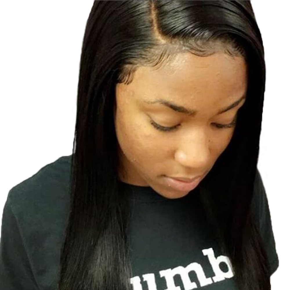 Beeos Peruvian Remy Straight Hair 13*4 Lace Frontal Closure With Baby Hair Pre Plucked Bleached Knots Ear To Ear Lace Closure