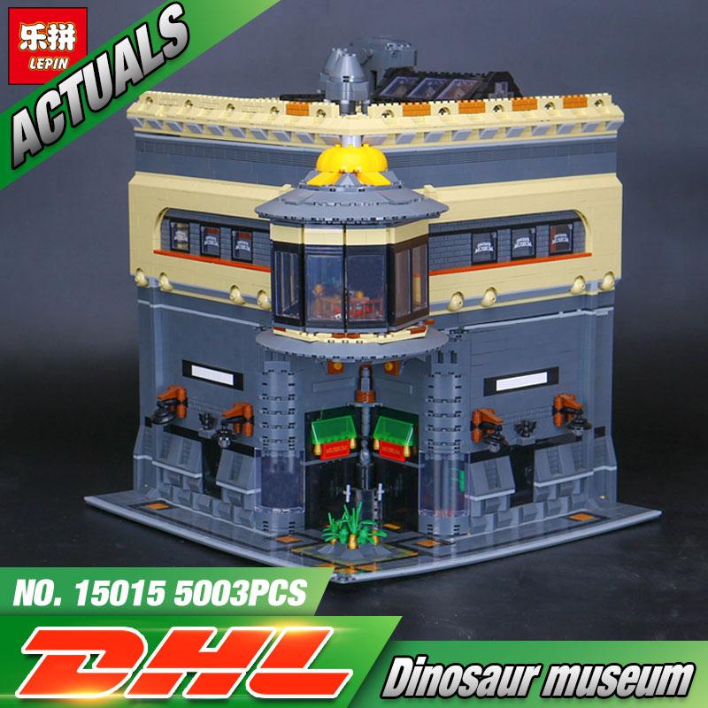 LEPIN 15015 5003pcs City Building Series The dinosaur museum Model Building Kits Bricks Blocks Educational Funny Gift Toy lepin 15015 5003 stucke stadt schopfer der dinosaurier museum moc modellbau kits ziegel spielzeug kompatibel weihnachtsgeschenke