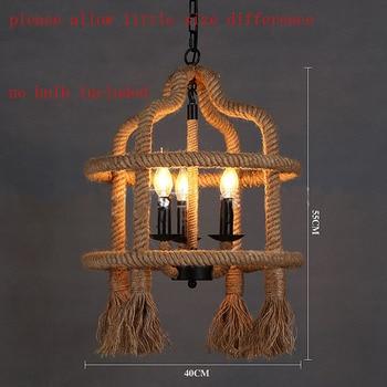 Amerikaanse Vintage Touw-plafond lamp 2