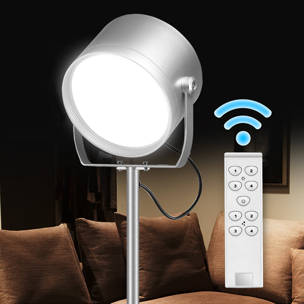 9W Dimming Modern Touch LED Standing Floor Lamp Reading for Living Room Bedroom with Remote Control and Touch Switch f9 modern touch led standing floor lamp reading for living room bedroom with remote control 12 levels dimmable 3000 6000k black