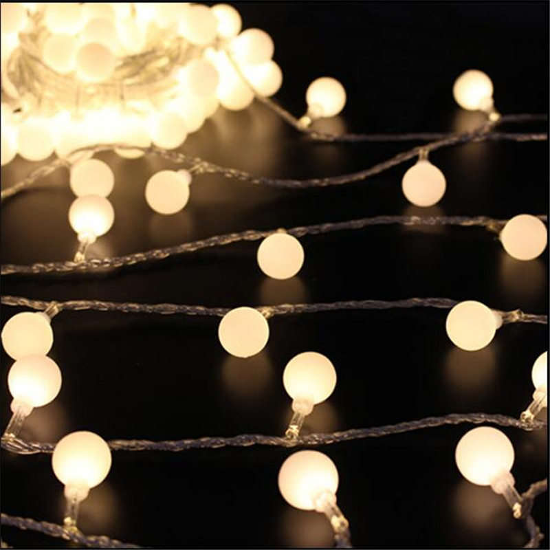 10M 50 LED Globe Festoon Party Ball String Light Led Christmas Lights  Fairy Light Wedding Garden Party Pendant Garland