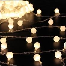 купить 10M 50 LED Globe Festoon Party Ball string light led Christmas Lights  fairy light wedding garden party pendant garland дешево