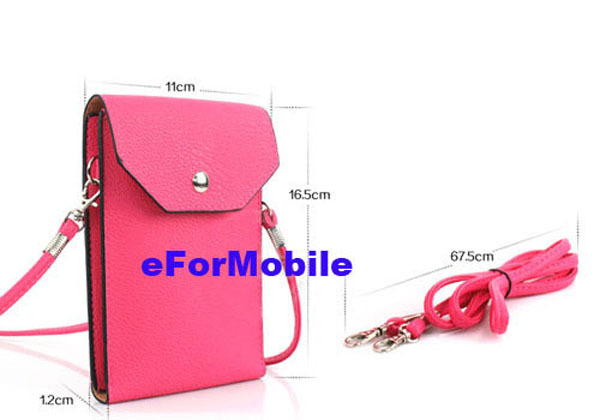 Hand Case Lady Wallet Mobile Phone Pouch Leather +Belt HTC One M9 Hima Desire 826 - OEMCity Lyn store