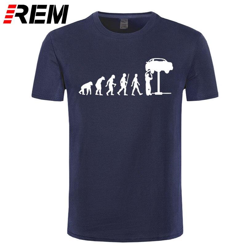 REM Summer Style Evolution Auto Mechaniker Mechanic Car T-Shirt Tops ...