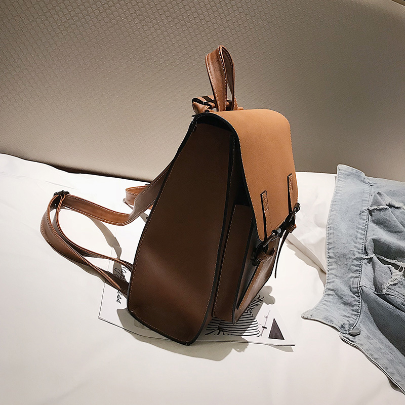 HTB1FDhsXIvrK1Rjy0Feq6ATmVXaD Fashion 2 PCS/SET Leather Women Backpacks for Teenagers female Back Pack Large Capacity Pu Travelling Bags Vintage school bag