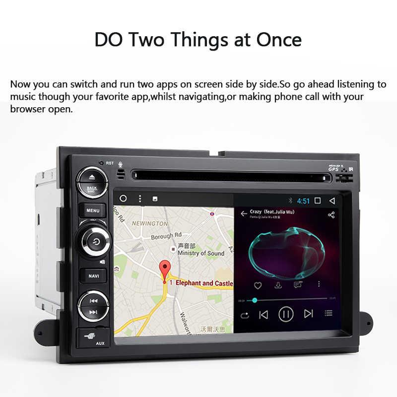 Androidht 8,0 8-ядерный Сенсорный экран машинный DVD проигрыватель для Ford Explorer Fusion F150 F500 F450 экспедиция радио PX5 4G Оперативная память 32G Встроенная память DAB