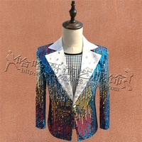 S XXXL New Male Performance Costume Male DJ Singer Host suits Men Sequin singer stage Costumes