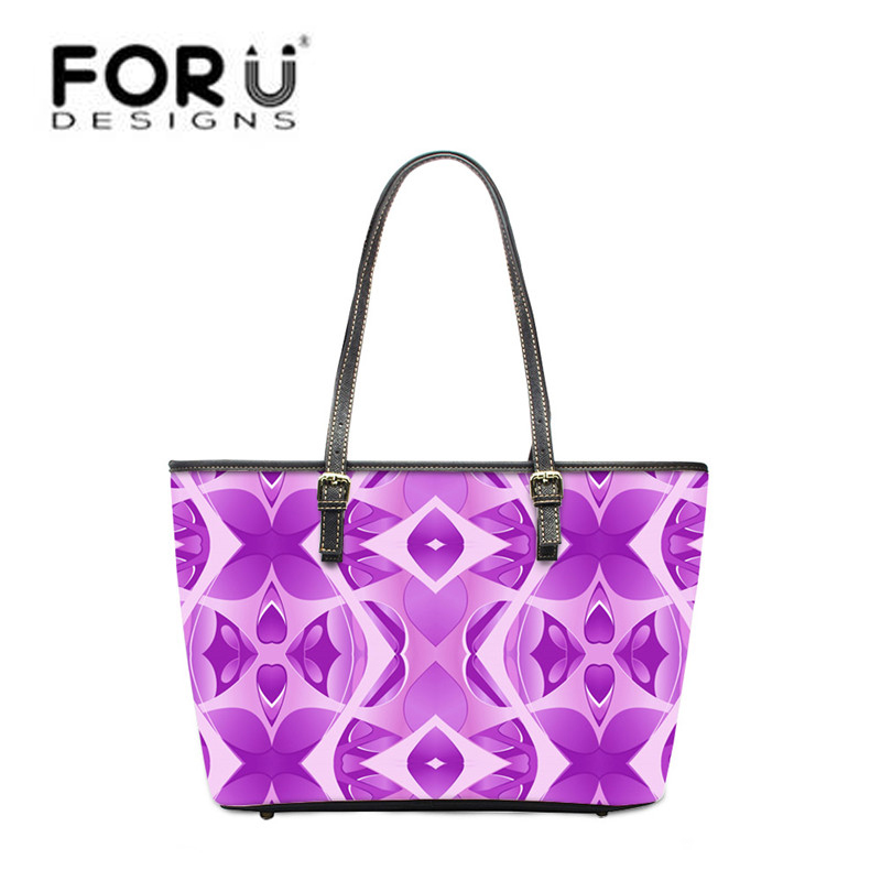 FORUDESIGNS Flower Women PU Leather Handbags,Luxury Woman Tote Bags Designer Handbag Ladies Shoulder Beach Bag bolsa feminina longmiao brand designer high quality women shoulder bag casual pu leather female big tote bag ladies handbags bolsa feminina