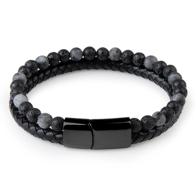 Natural Stone + Genuine Leather Bracelet 4