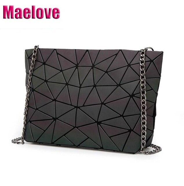 80d7aef0e632 Maelove 2019 New Luminous bag Women Geometry handbag Casual female chain  shoulder bag Free Shipping Geometric Bag