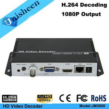 MPEG-4 AVC H.264 Video Decoder VGA HDMI output repleace topbox &PC transmitter IP encoder RTMP