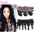 Lace Frontal Closure With Bundles Loose Wave Lace Frontal Closure With Bundles Loose Wave Curly Human Hair Peruvian Virgin Hair