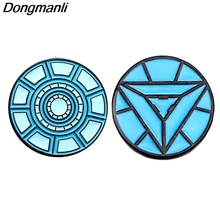 P3813 Dongmanli Fashion Nuclear Reactor Cool Metal Enamel Brooches and Pins Lapel Pin Backpack Badge Collar Jewelry