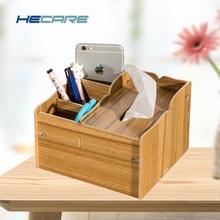 HECARE Wooden Tissue Box Holder with Storage Box and Pen holder Wood Color Kitchen Tissue Holder Box for Napkins DIY Wipes Box цена в Москве и Питере