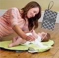 Troca de fraldas mat mudança do bebê à prova d' água folha portátil Kit de viagem pad mesa Estação de Mudança Embreagem Fralda cuidados produtos