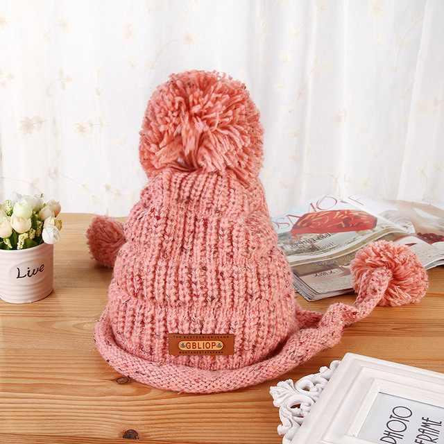 New Fashion Women Casual Warm Winter Hat Women Skullies Beanie Warm Knitted Hat Female Cotton Winter Cap Lady Beanie Hat Outdoor