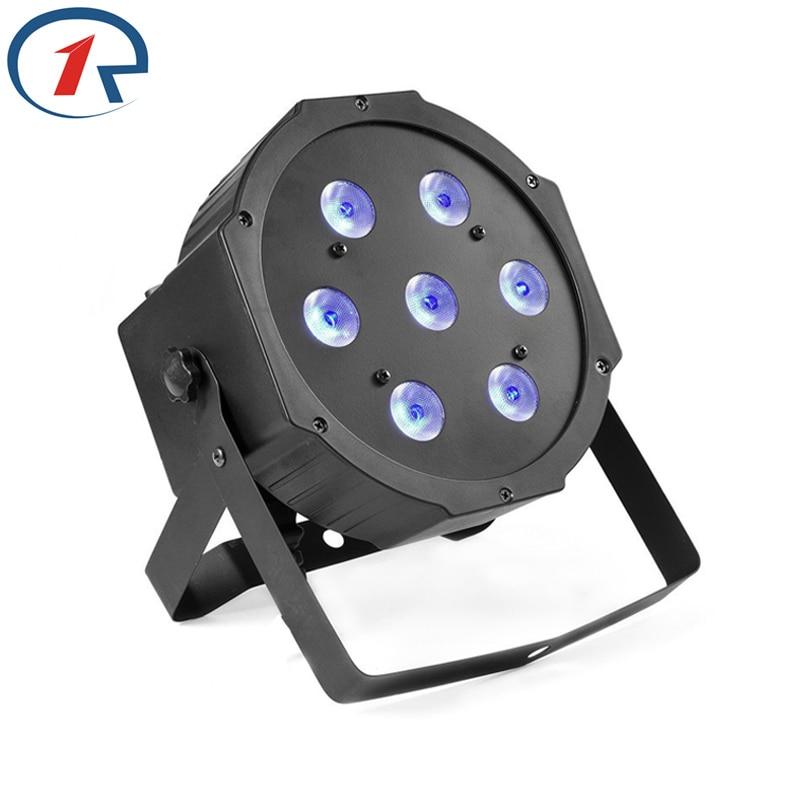 ZjRight 7LEDステージライトハイパワー70Wパーライトdmxコントローラー屋外コンサートウェディング照明ktvバーパーティーdjディスコライト
