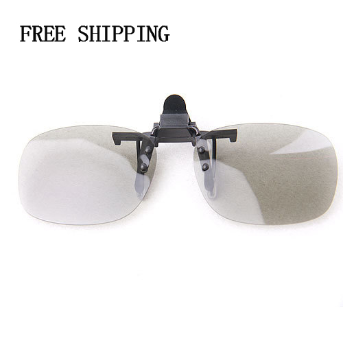 US $9 99 |Clip Type 3D Polarized Plastic Sheet Glasses with Glasses Case  for LG Smart TV DVD Movies Video Games Computers   -in 3D Glasses/ Virtual