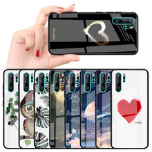 Tempered Glass Case For Huawei Nova 3 3i P30 P20 Lite Pro Space Phone Case Beautiful Pattern Silicone Frame Back Cover Coque(China)