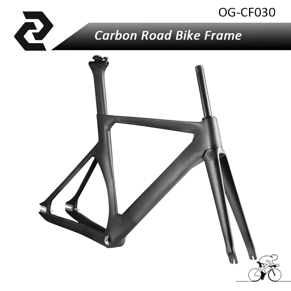 2018 Aero fixed gear Carbon Road Frame Light Carbon Bike Frameset UD Glossy matt BSA BB30 48 51 54 57cm OG-EVKIN Bicycle Parts цена и фото