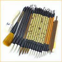 Brosses de peinture sur le paysage chinois, jeu de stylos à brosse de calligraphie de haute qualité, 24 pièces/ensemble