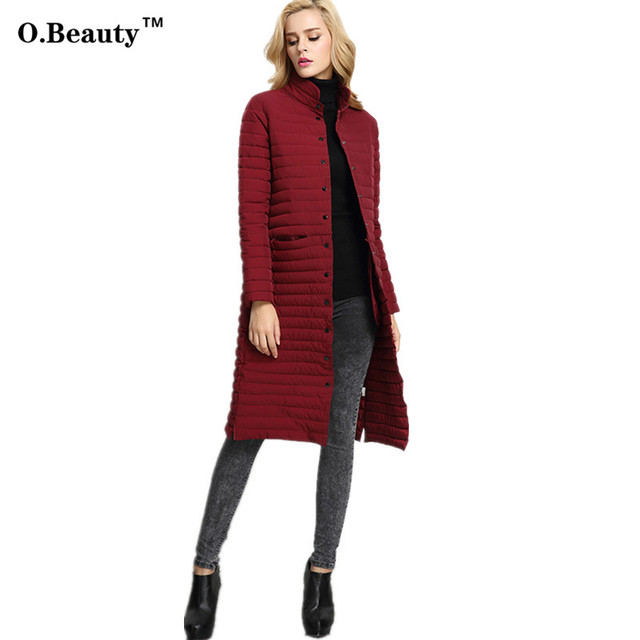 2016 Fashion Winter Long Down Coat Womens Jackets and Coats Slim Thickening Warm Female Parka Ladies Over Coat Manteau Femme