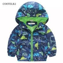 COOTELILI 80-120cm Spring Autumn Dinosaur Windbreaker Kids Jacket Boys Outerwear