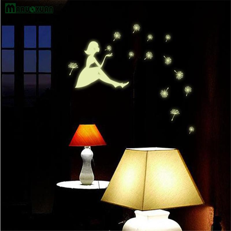 Dandelion Girl Star Luminous Sticker Luminescent Stickers Children's Room Dormitory Decoration Wall Stickers Permanent Glow 4