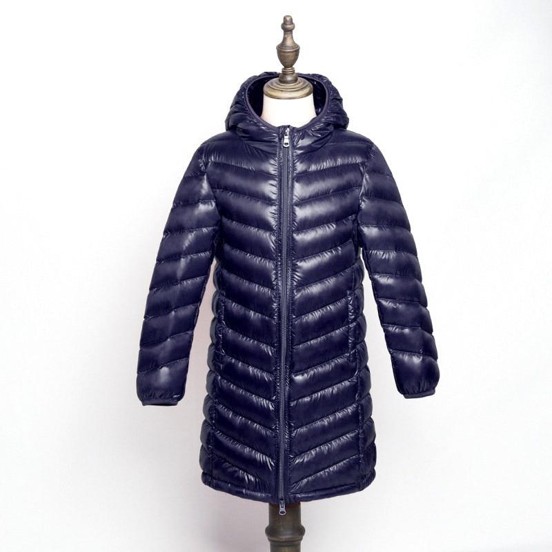 Winter Fashion Brand Ultralight Duck Down Jacket Boys Hooded Streetwear Light Feather Coat Waterproof Warm Kids Clothing