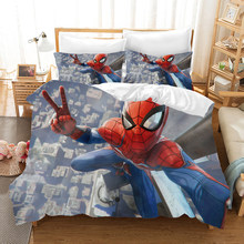 Marvel Spiderman 3d Bedding Set Duvet Covers Pillowcases Spider Man Far From Home Comforter Bedding Sets Bedclothes Bed Linen(China)