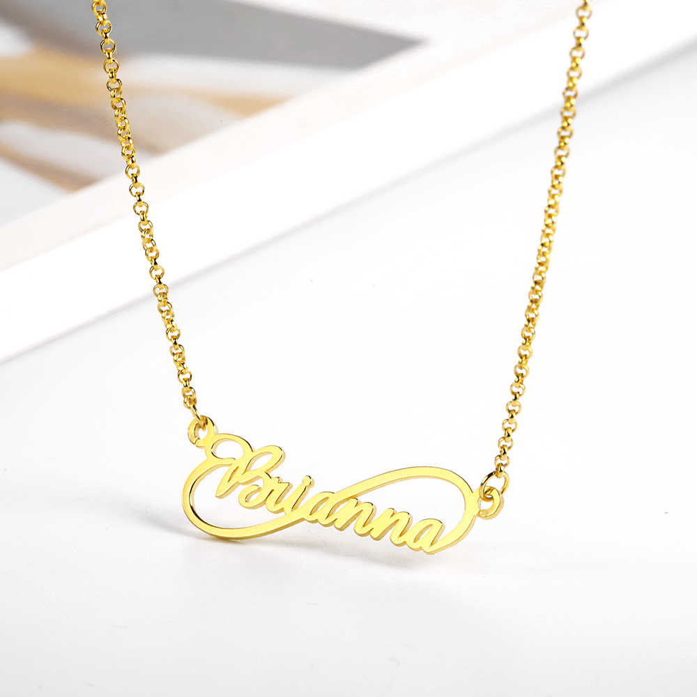 WindJune Custom Name Necklace Women Necklace & Pendant Stainless Steel Personalized NameNecklace Custom Jewelry Gift Wholesale