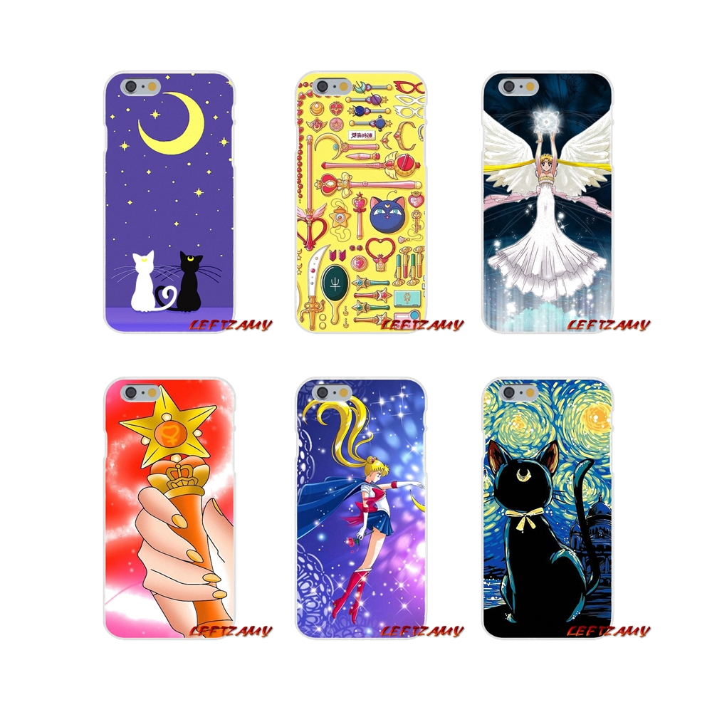 Phone Bags & Cases Accessories Phone Skin Cover Lovely Cute Sailor Moon Cartoon For Iphone X Xr Xs Max 4 4s 5 5s 5c Se 6 6s 7 8 Plus Ipod Touch 5 6 Buy One Give One Half-wrapped Case