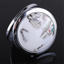 Girls Portable Folding Magnifying Metal Makeup Mirror Double Side Compact Mirrors Fashion Folding Cosmetic Mirror