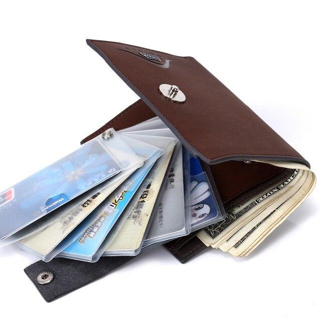 c58e47497 Carteras de marca famosa de lujo para Hombre pequeño corto delgada  billetera monederos Tarjetero Hombre marrón