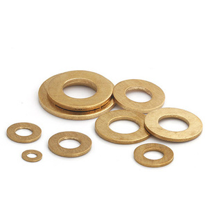 Image 1 - M10 M12 M14 M16 M18 M20 M22 M24 M30 Brass gasket washers flat pad thickened gaskets meson 20mm 54mm Outside Diameter