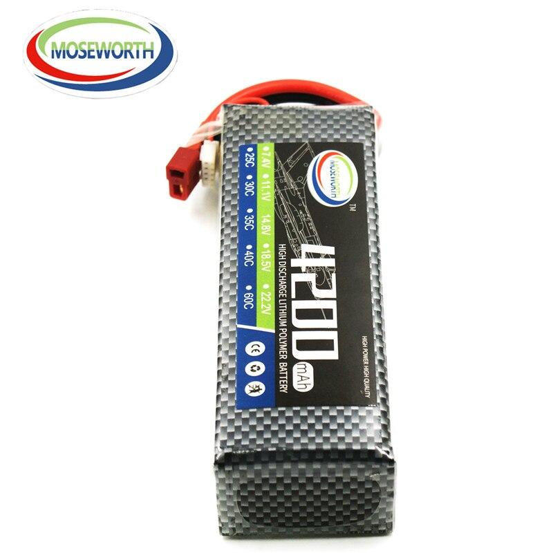 MOSEWORTH 5S 18.5V 4200mah 25c RC LiPo Battery for rc airplane rc boat Free shipping lipo battery 18 5 v 3500mah 25c 5s for rc airplane free shipping