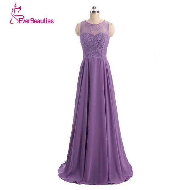 Lavender Vestidos Dama de honra Longo de Chiffon Plissado Uma Linha de  Alibaba China Roxo Da 402f9bbb63ee