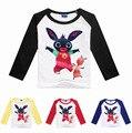 Горячая продажа 2-8Years GB Bing пробка кролик мальчик детские футболки с длинным рукавом девушки с длинным рукавом футболки костюм camisas femininas 2016
