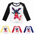 Hot sale 2-8Years GB Bing bung rabbit boy kids t shirt long sleeve girls long sleeve tee shirts costume camisas femininas 2016