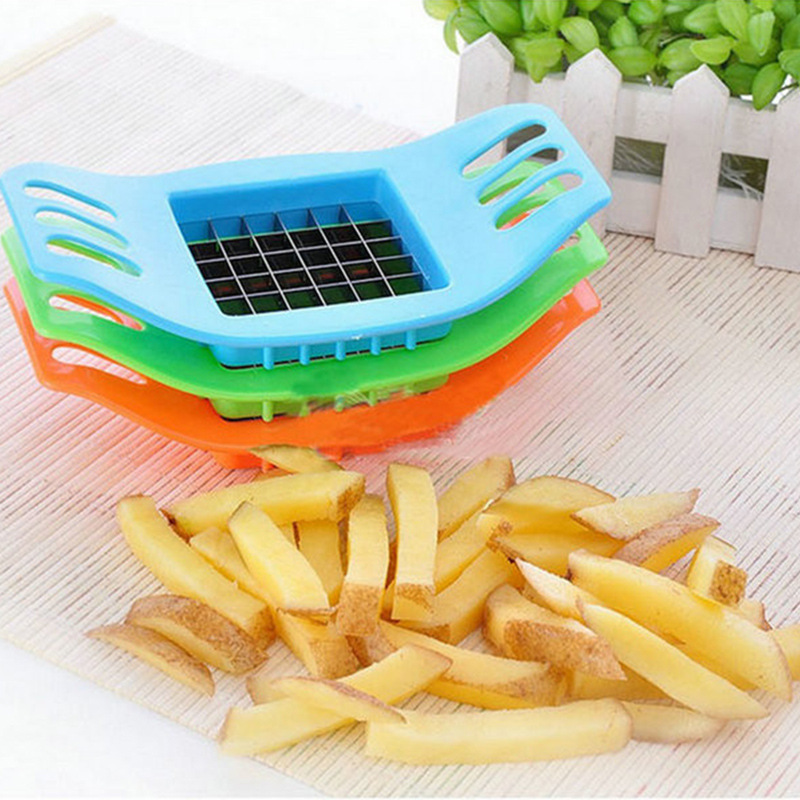 2pcs New PVC + Stainless Steel French Fry Fries Cutter Peeler Potato Chip Vegetable Slicer Cooking Tools Kitchen supplier